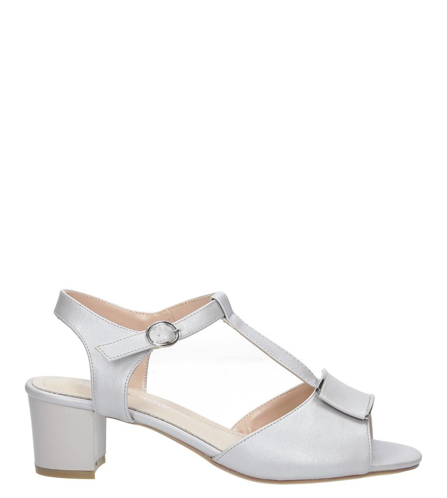 Szare sandały na niskim obcasie perła Sergio Leone SK806-04E