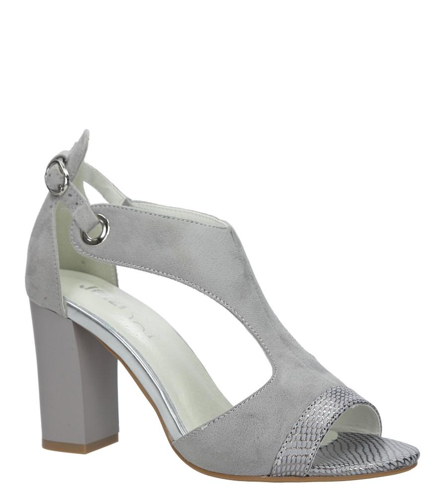 Szare sandały na obcasie Jezzi SA109-5 producent Jezzi