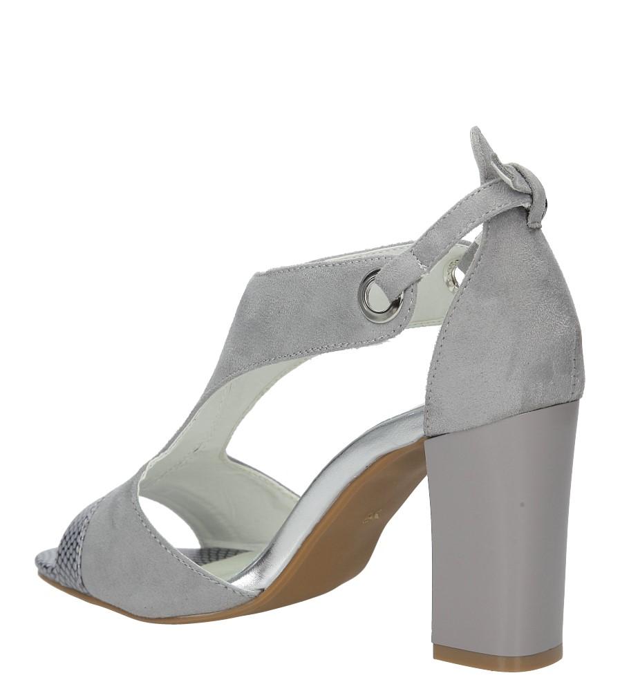 Szare sandały na obcasie Jezzi SA109-5 wysokosc_obcasa 8.5 cm