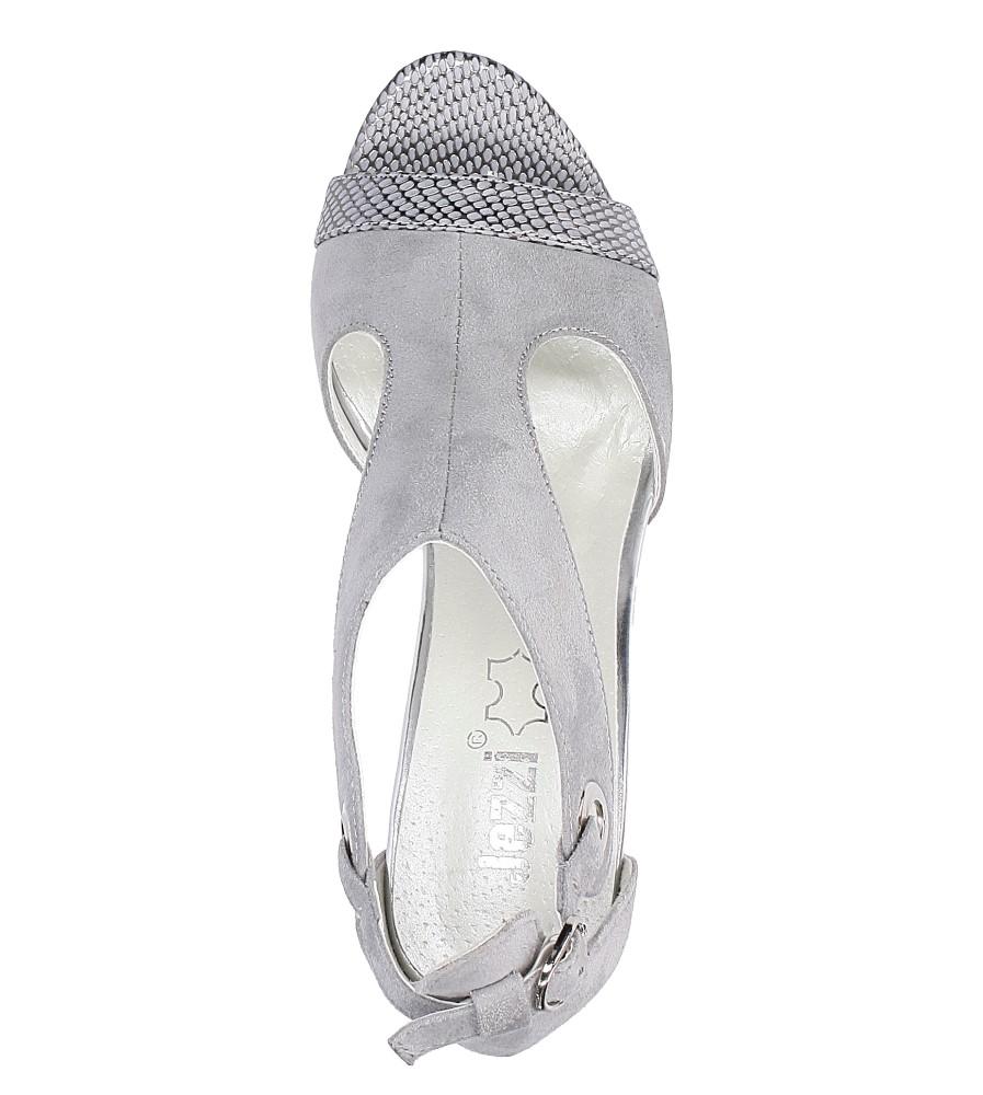 Szare sandały na obcasie Jezzi SA109-5 wysokosc_platformy 1 cm
