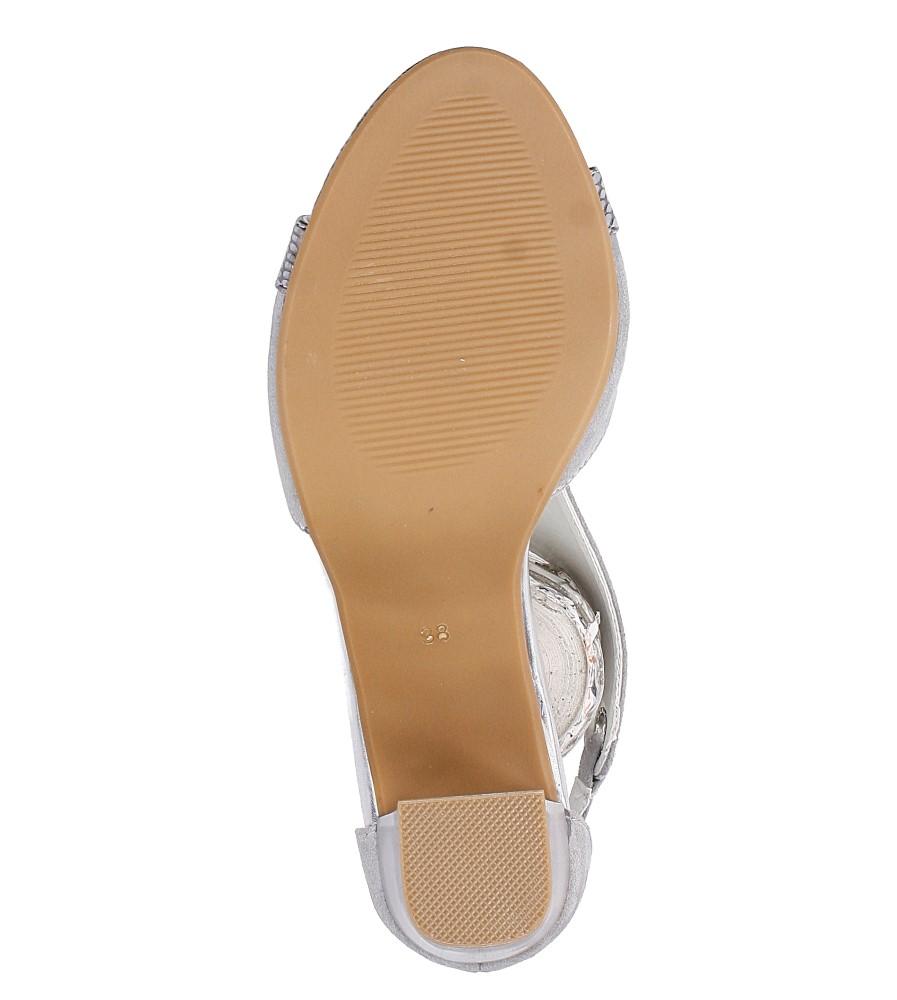 Szare sandały na obcasie Jezzi SA109-5 wys_calkowita_buta 18.5 cm