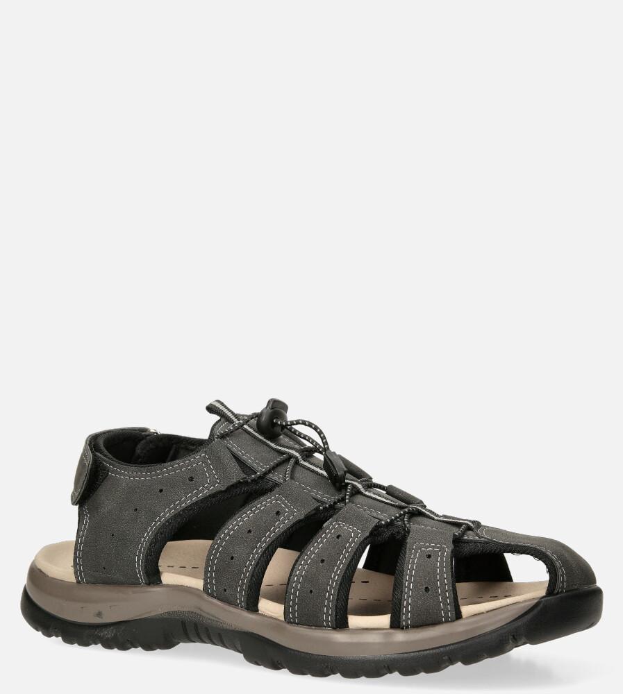 Szare sandały na rzep Casu B9661 producent Casu