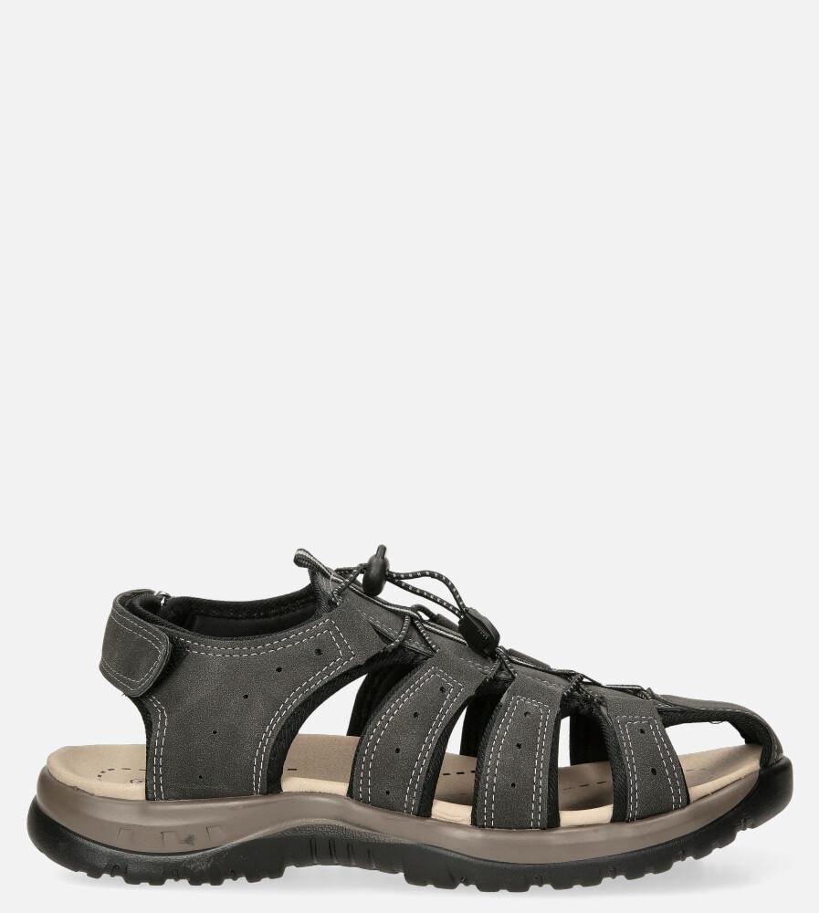Szare sandały na rzep Casu B9661