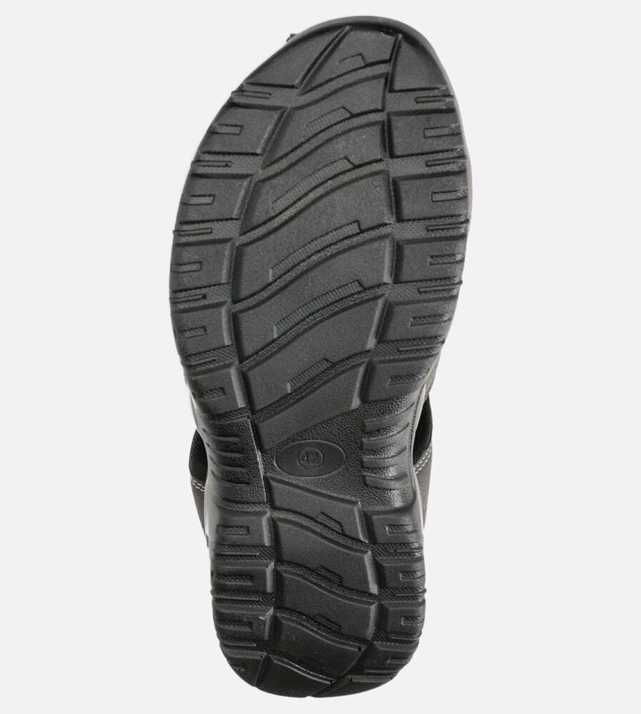 Szare sandały na rzep Casu B9661 wysokosc_platformy 2 cm
