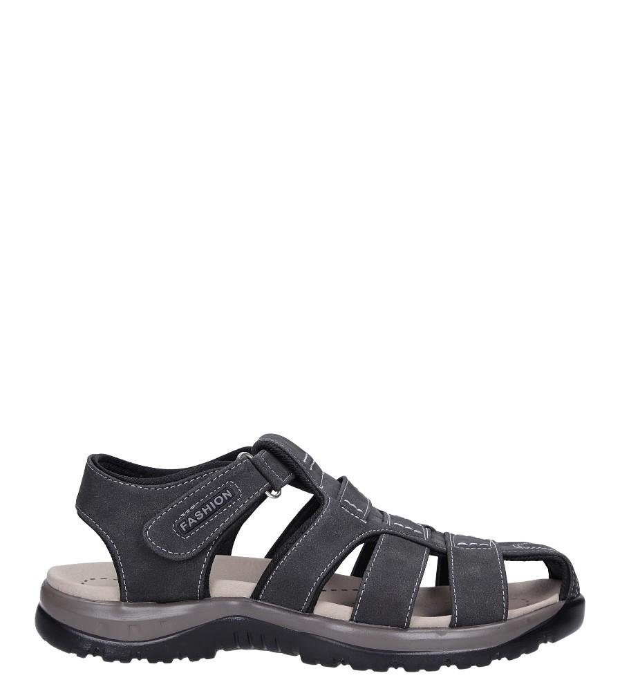 Szare sandały na rzep Casu B9662