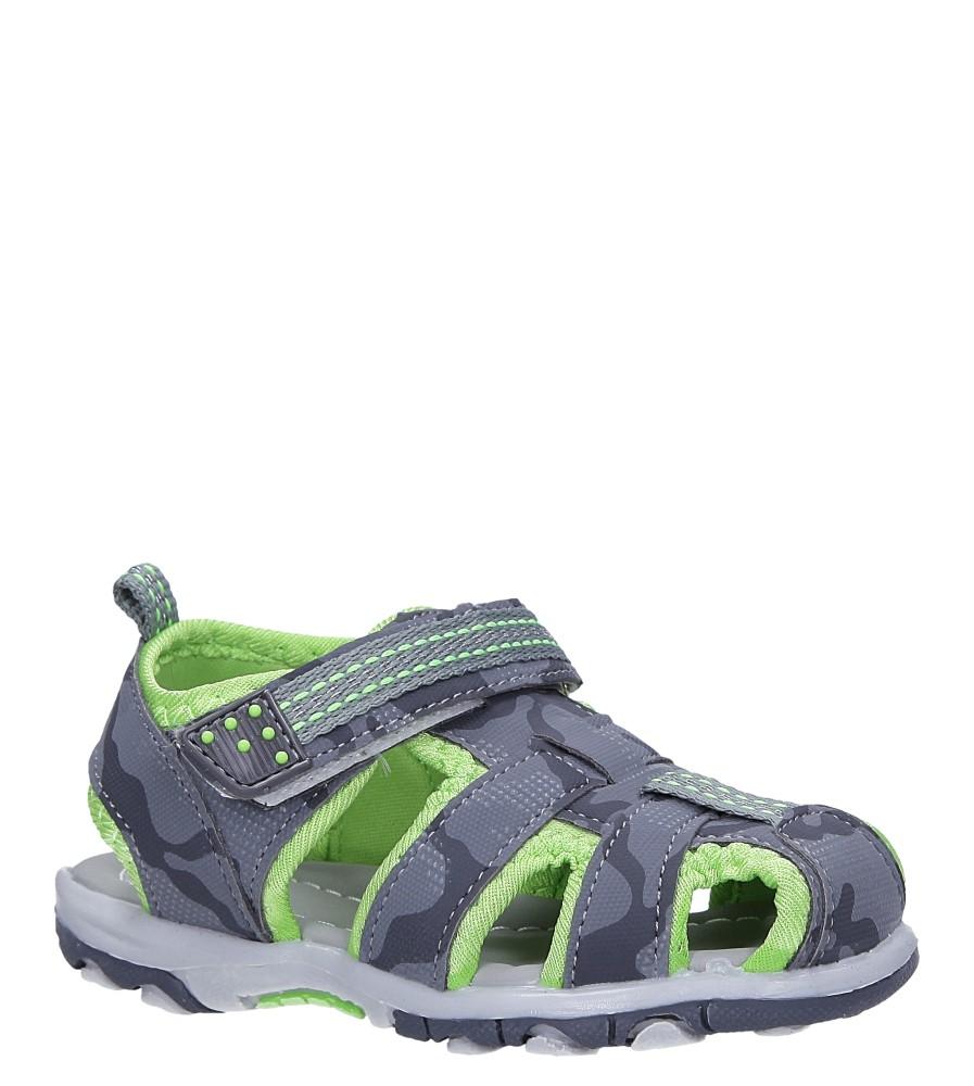 Szare sandały na rzep Casu JF15 producent Casu
