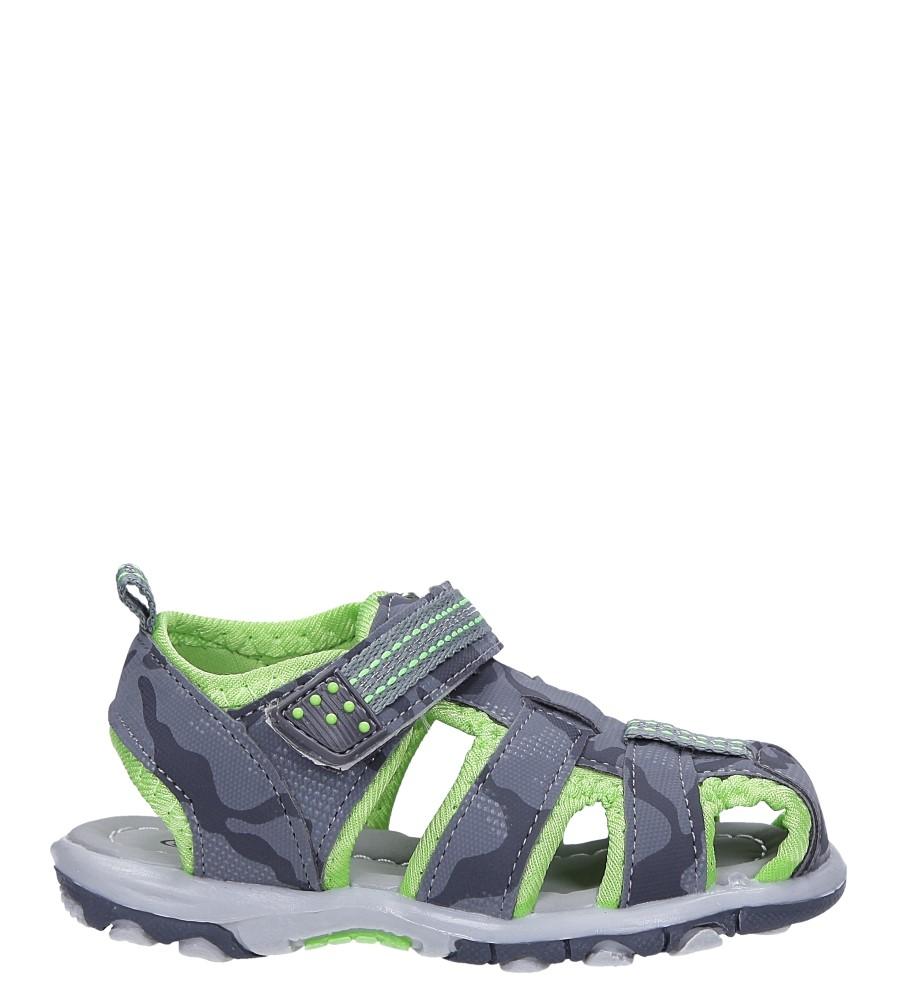 Szare sandały na rzep Casu JF15