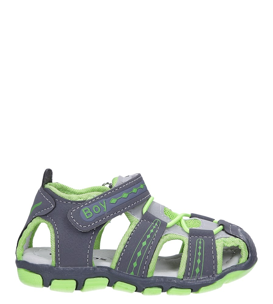 Szare sandały na rzep Casu Y106B