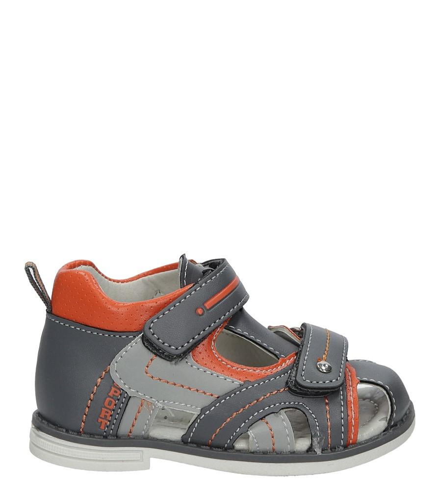 Szare sandały na rzep Casu Z-293