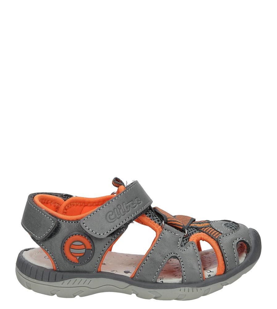 Szare sandały na rzep Casu Z-326