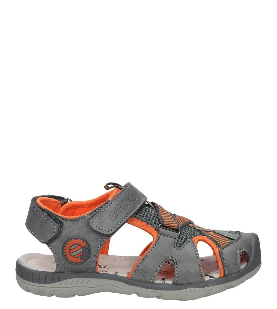 Szare sandały na rzep Casu Z-328