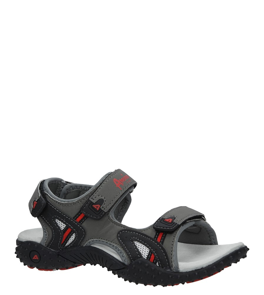 Szare sandały na rzepy American RX5267 szary