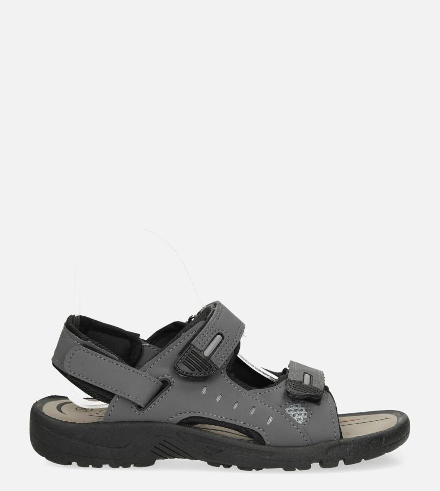 Szare sandały na rzepy Casu 3119 szary