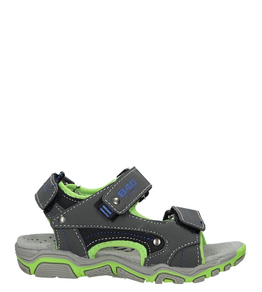 Szare sandały na rzepy Casu 3SD9137