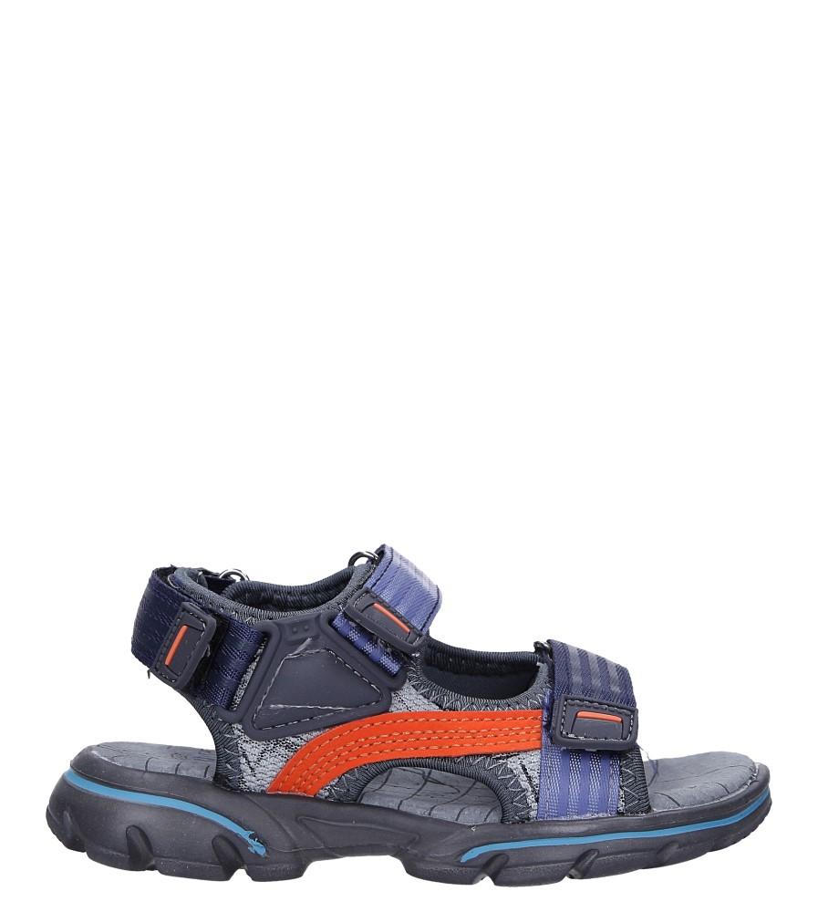 Szare sandały na rzepy Casu 7036