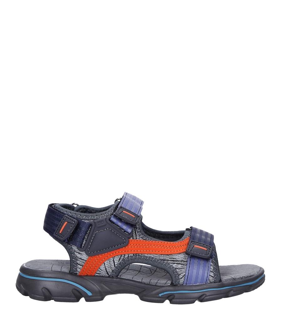 Szare sandały na rzepy Casu 7037