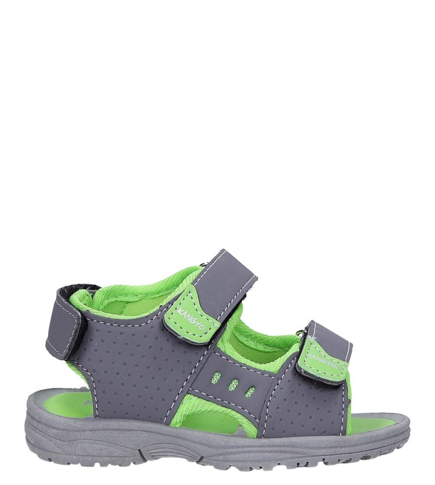 Szare sandały na rzepy  Casu 90