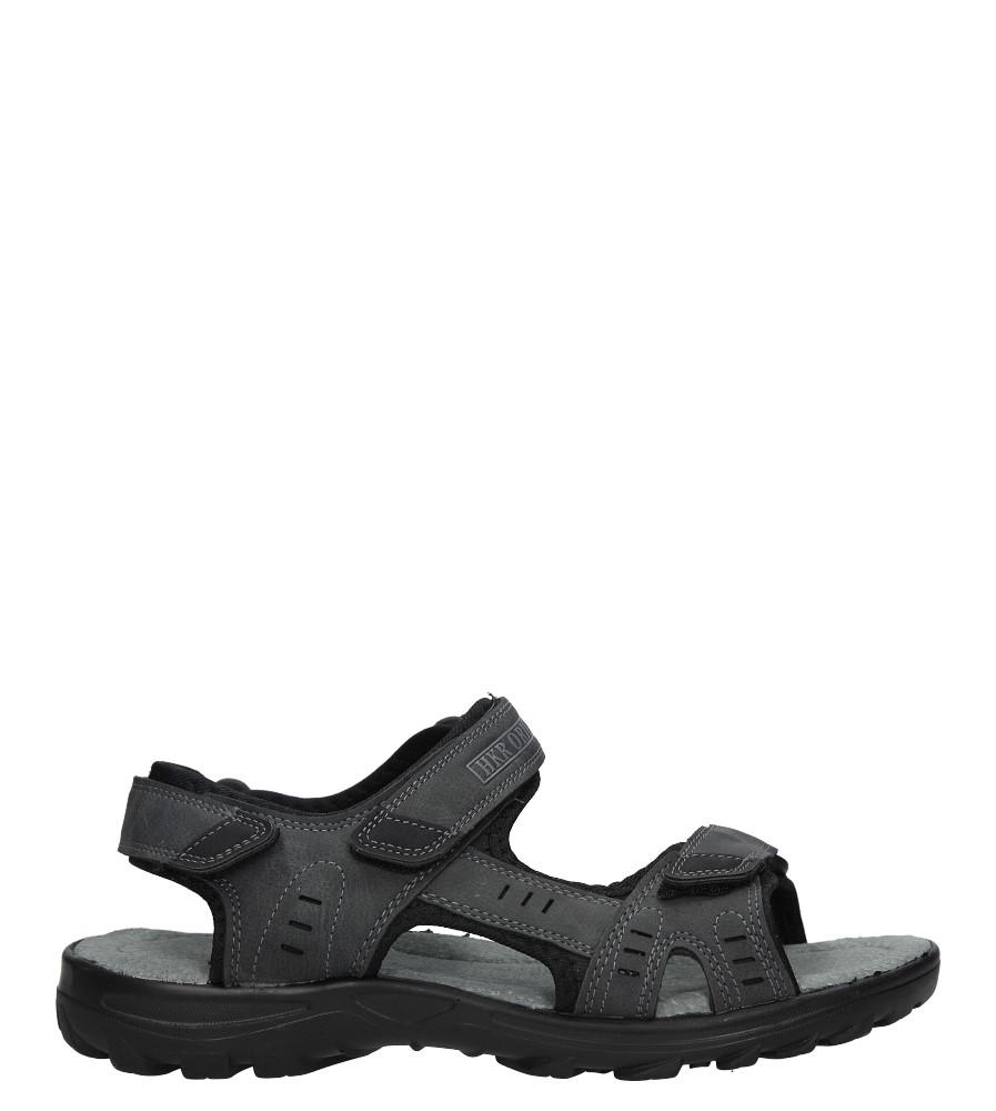 Szare sandały na rzepy Casu 9S-FH86397