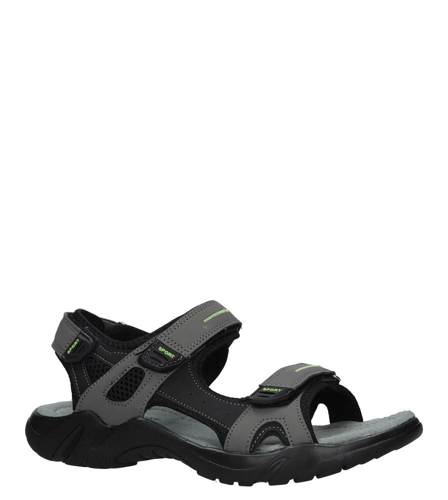 Szare sandały na rzepy Casu 9S-FH86403