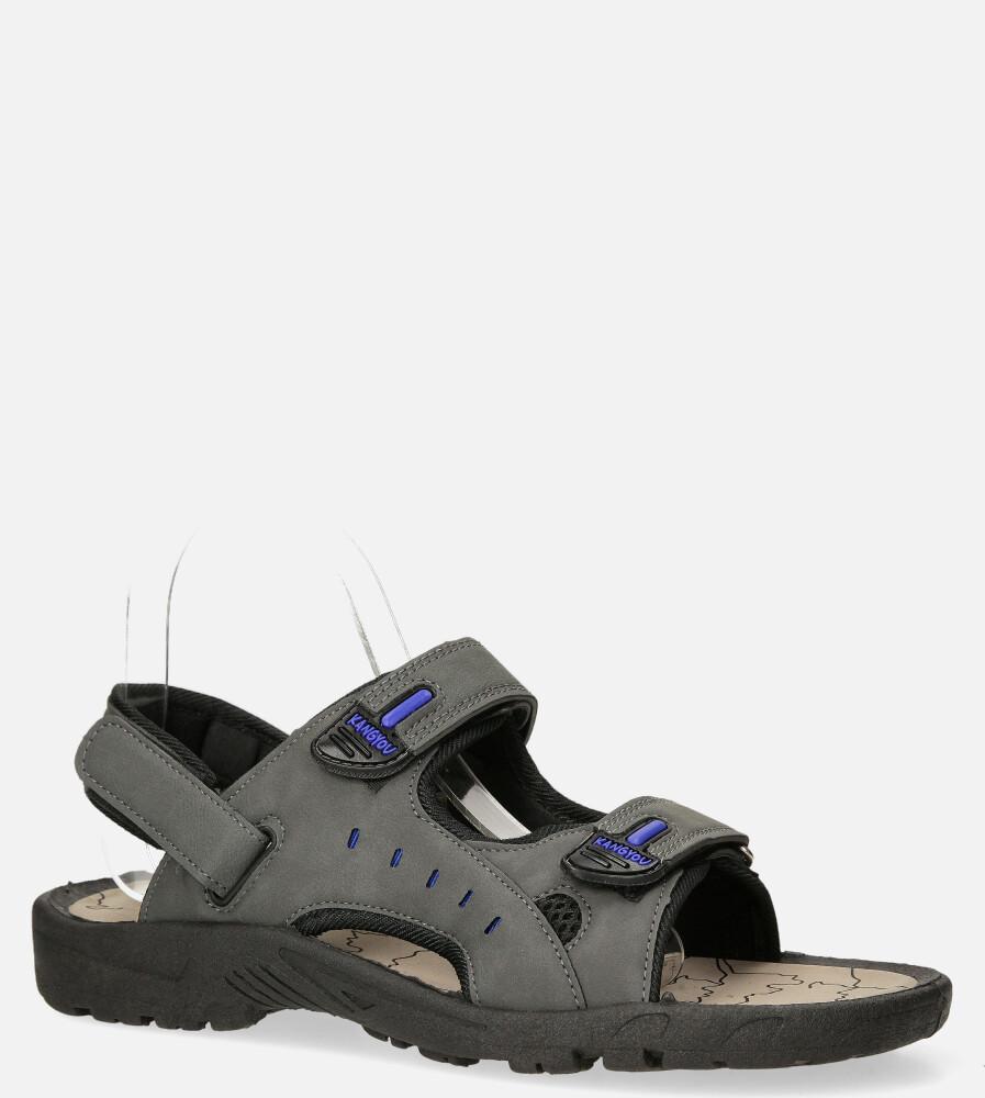 Szare sandały na rzepy Casu B-67 producent Casu