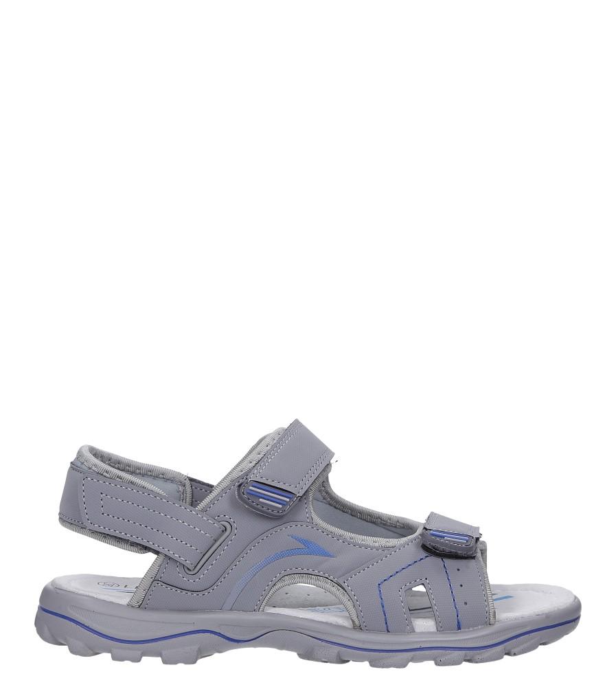 Szare sandały na rzepy Casu B5529-22