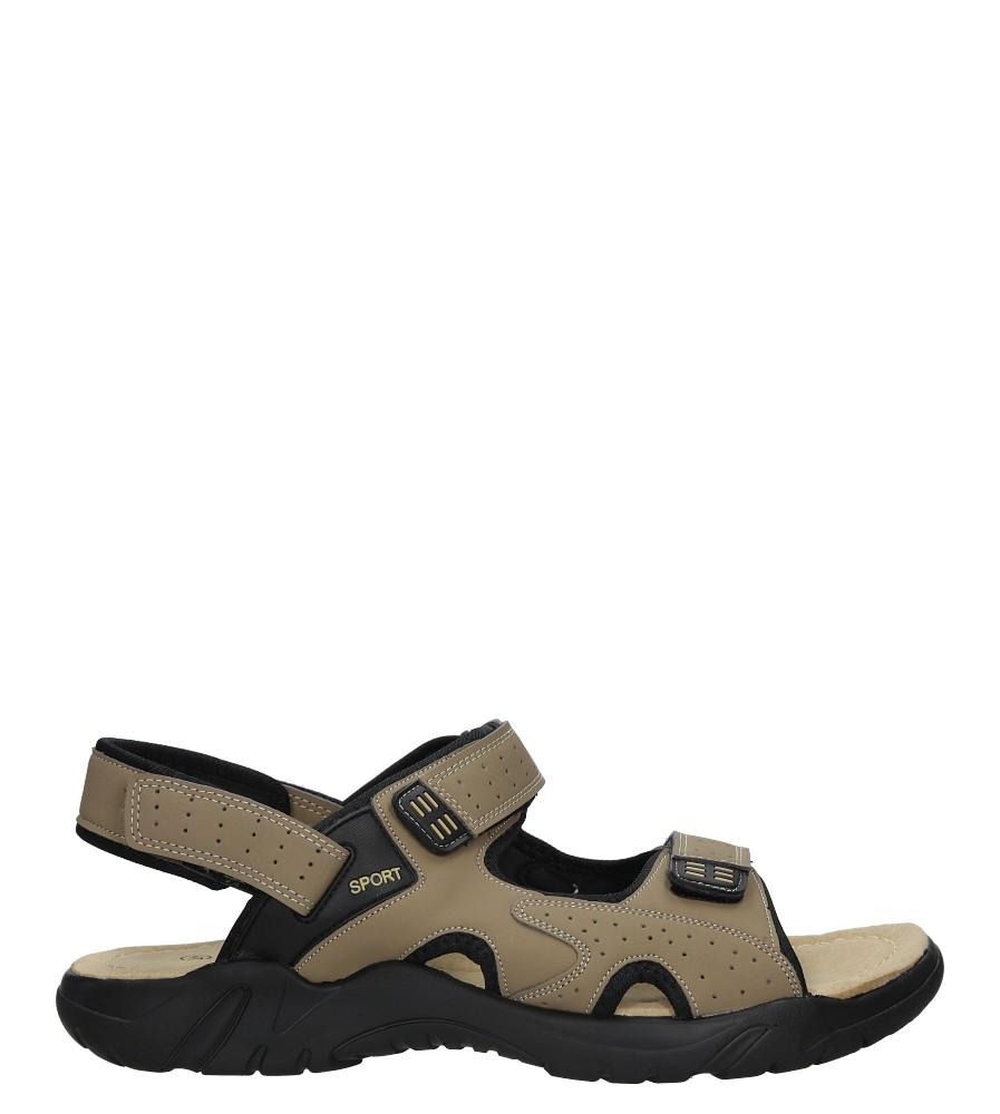 Szare sandały na rzepy Casu B8700-3