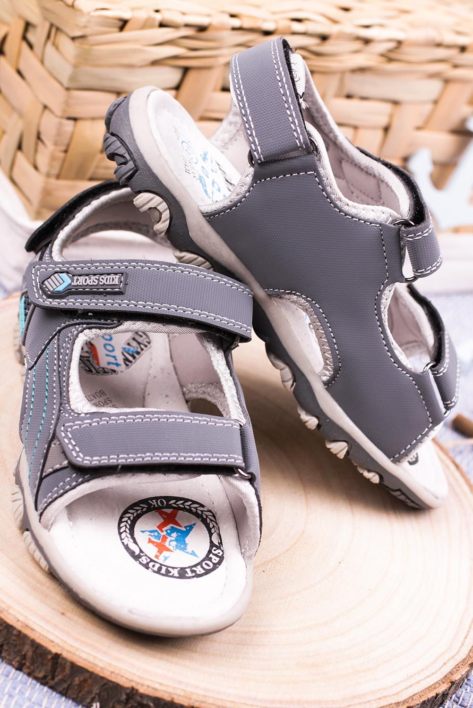 Szare sandały na rzepy Casu CS9008 producent Casu