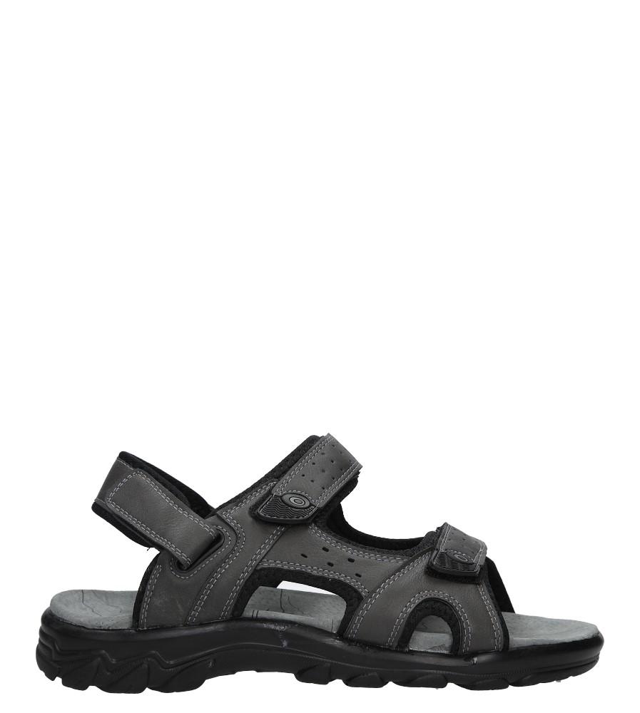 Szare sandały na rzepy Casu D18627D/J szary