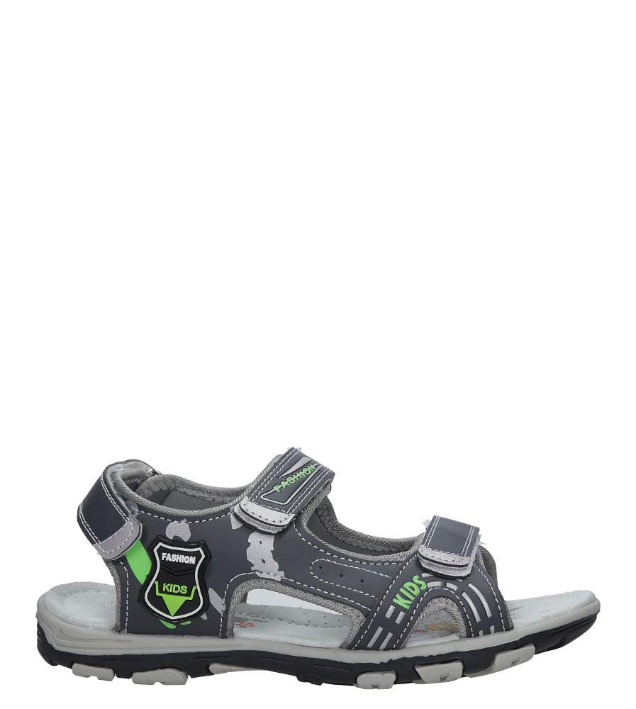 Szare sandały na rzepy Casu HT593B