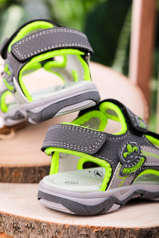 Szare sandały na rzepy Casu JF07 szary