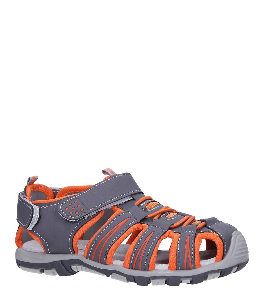 Szare sandały na rzepy Casu LA88