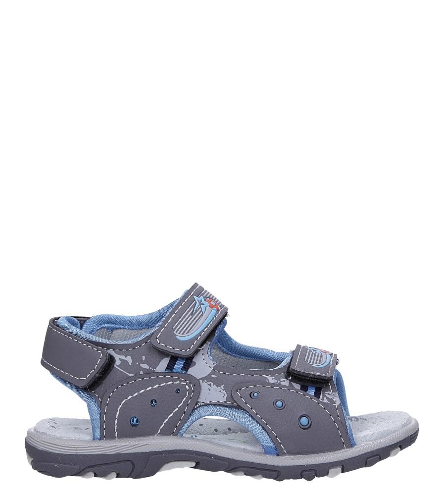 Szare sandały na rzepy Casu LA95