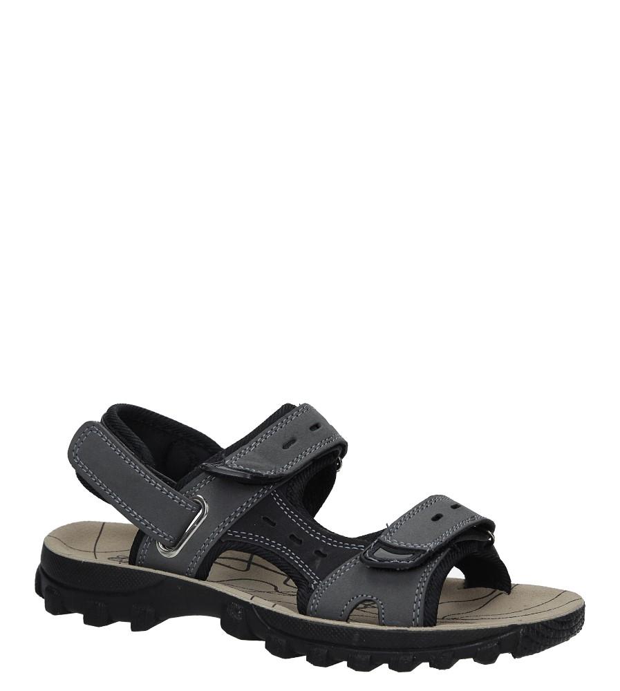 Szare sandały na rzepy Casu M03