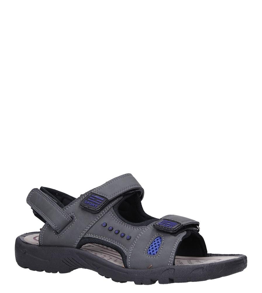 Szare sandały na rzepy Casu M2212