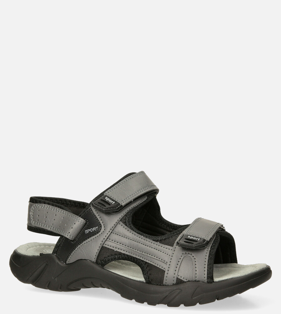 Szare sandały na rzepy Casu M5515-3 producent Casu