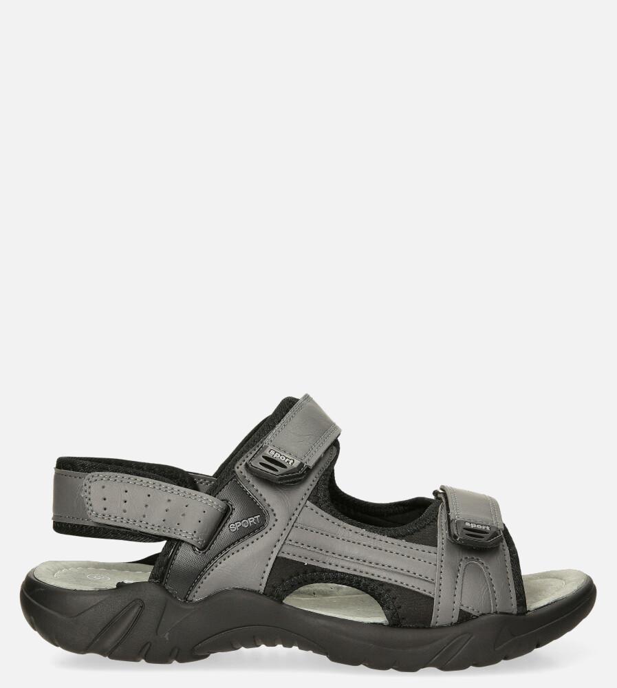 Szare sandały na rzepy Casu M5515-3