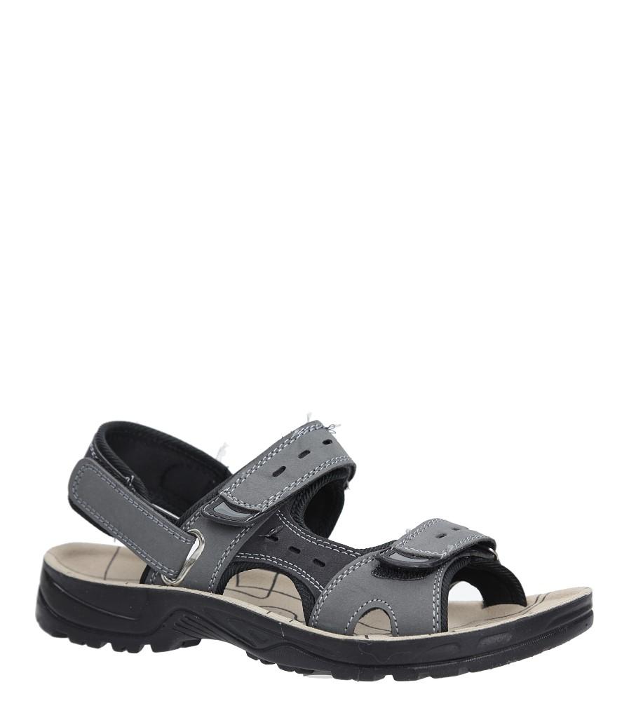 Szare sandały na rzepy Casu P03