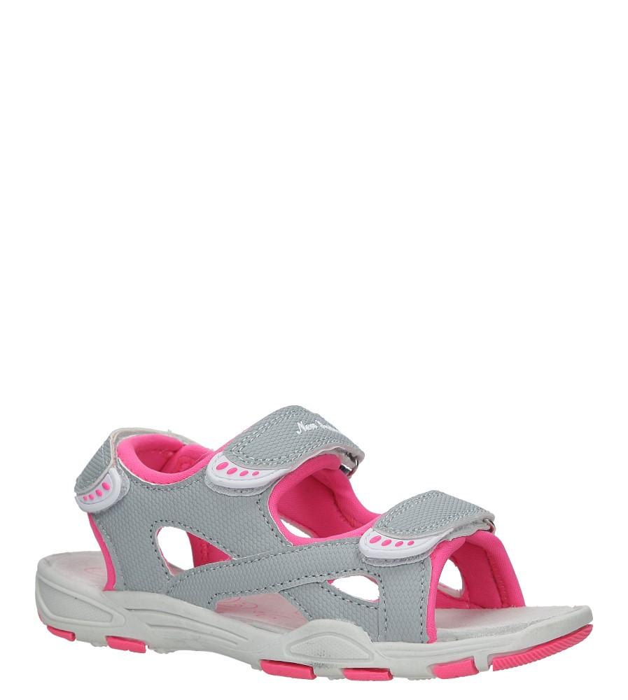 Szare sandały na rzepy Casu TA54 producent Casu