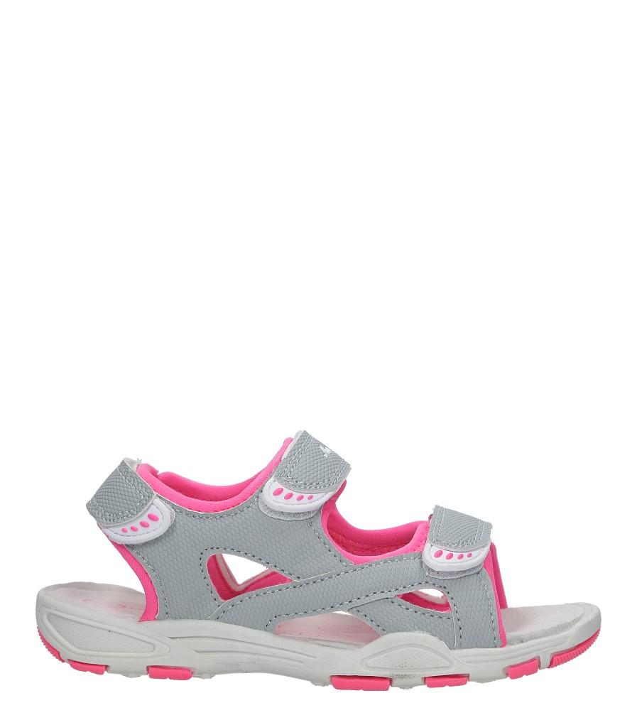 Szare sandały na rzepy Casu TA54 jasny szary