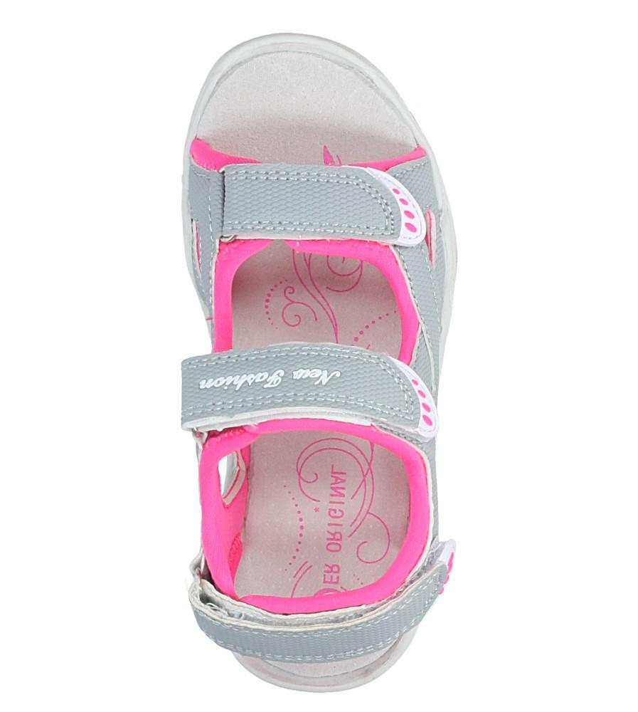 Szare sandały na rzepy Casu TA54 wysokosc_obcasa 2.5 cm