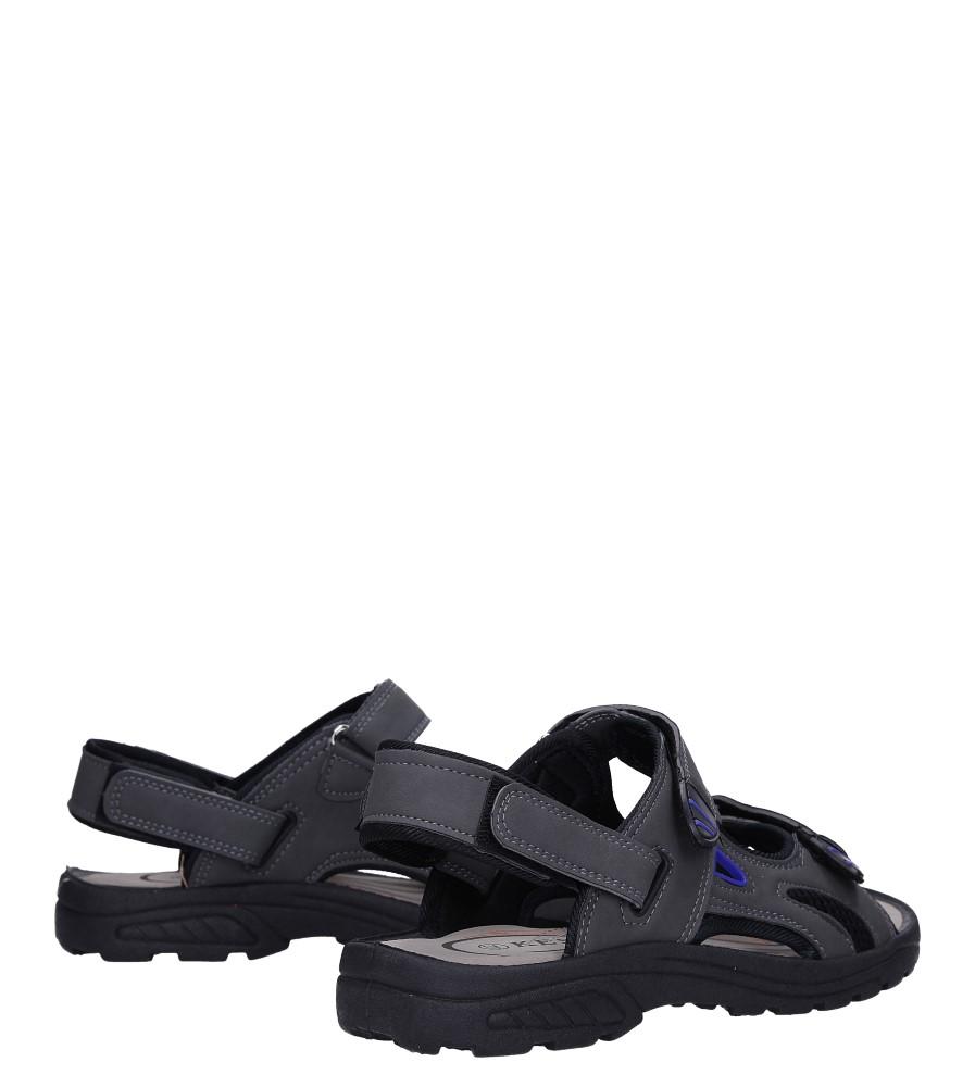 Szare sandały na rzepy Casu XH9915M wysokosc_platformy 1.5 cm