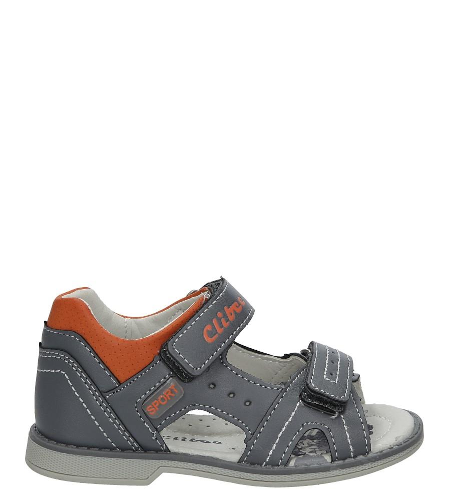 Szare sandały na rzepy Casu Z-285