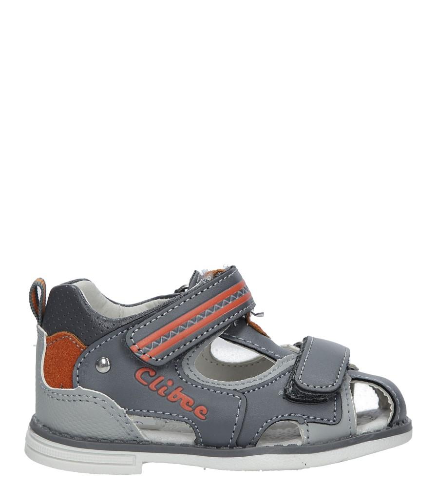 Szare sandały na rzepy Casu Z-292