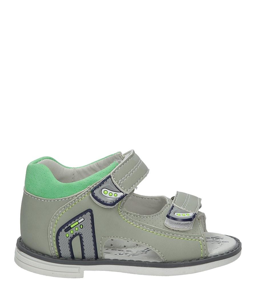 Szare sandały na rzepy Casu Z-294