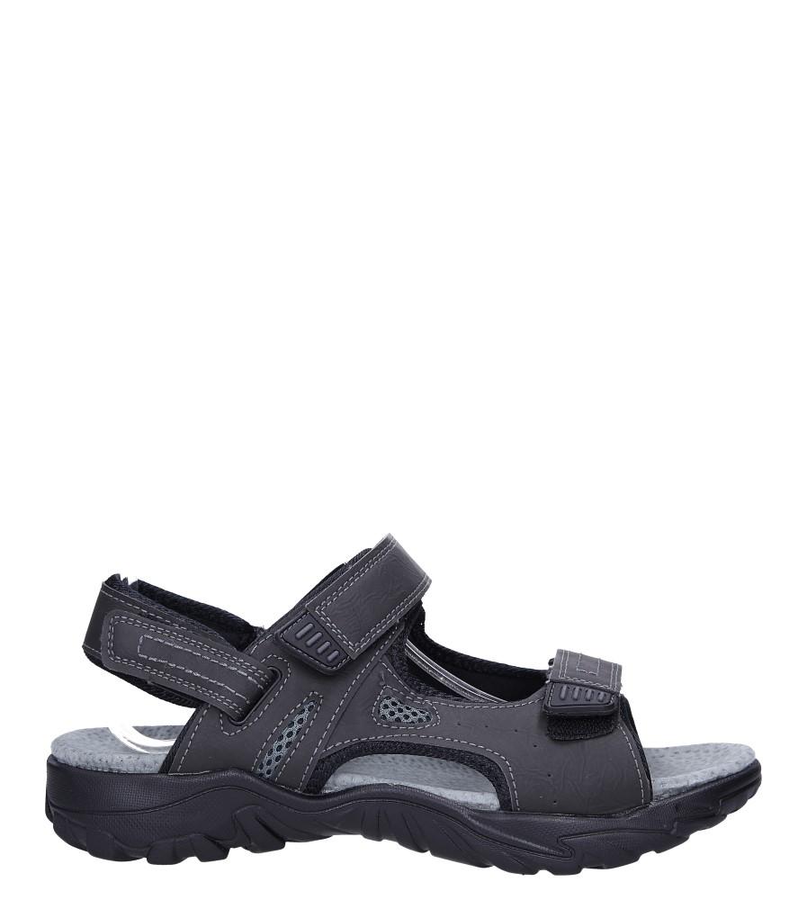 Szare sandały na rzepy ze skórzaną wkładką Casu B9653-4