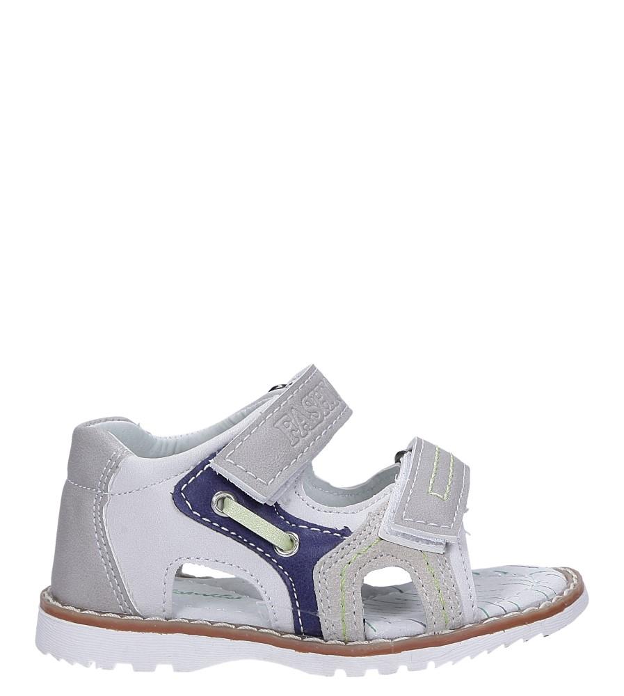 Szare sandały na rzepy ze skórzaną wkładką Casu YF-325