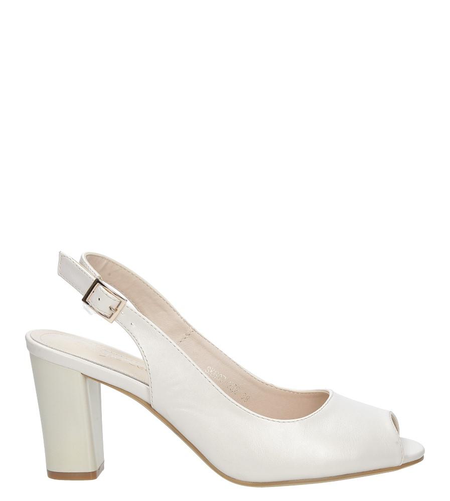 Szare sandały na słupku srebrny perła Sergio Leone SK807-22E