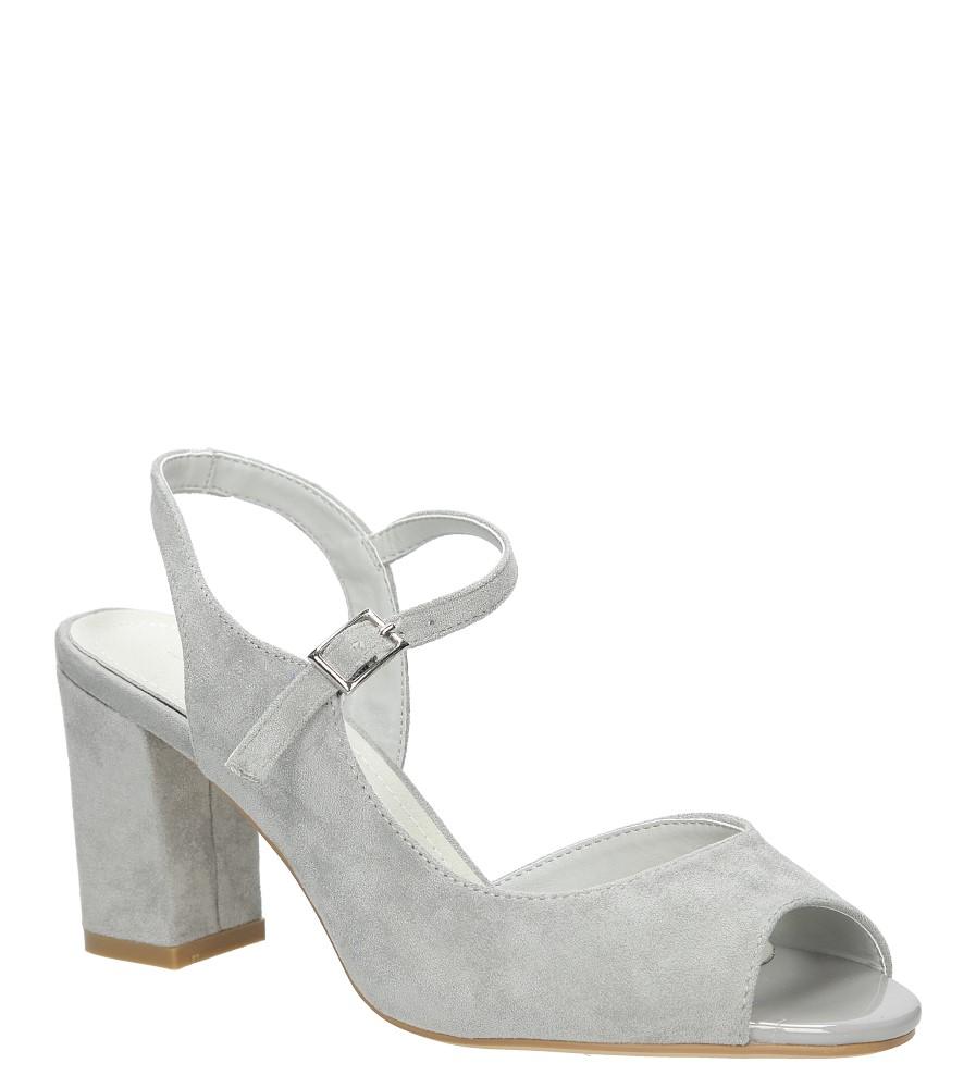 Szare sandały na szerokim obcasie Sergio Leone SK808-03M producent Sergio Leone