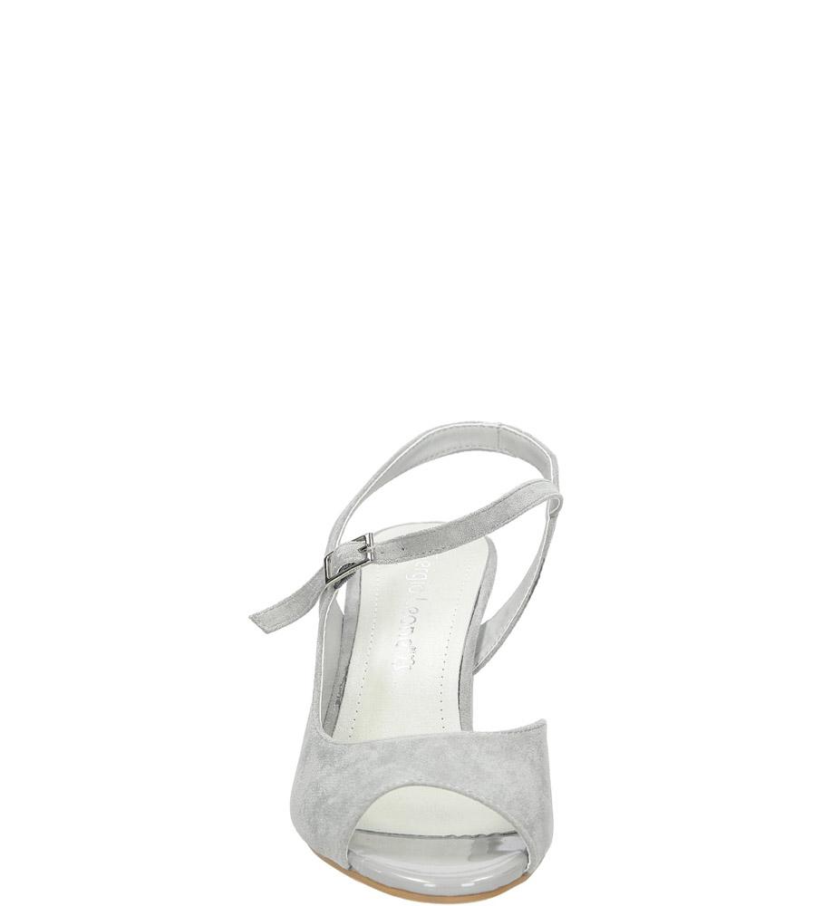 Szare sandały na szerokim obcasie Sergio Leone SK808-03M kolor szary