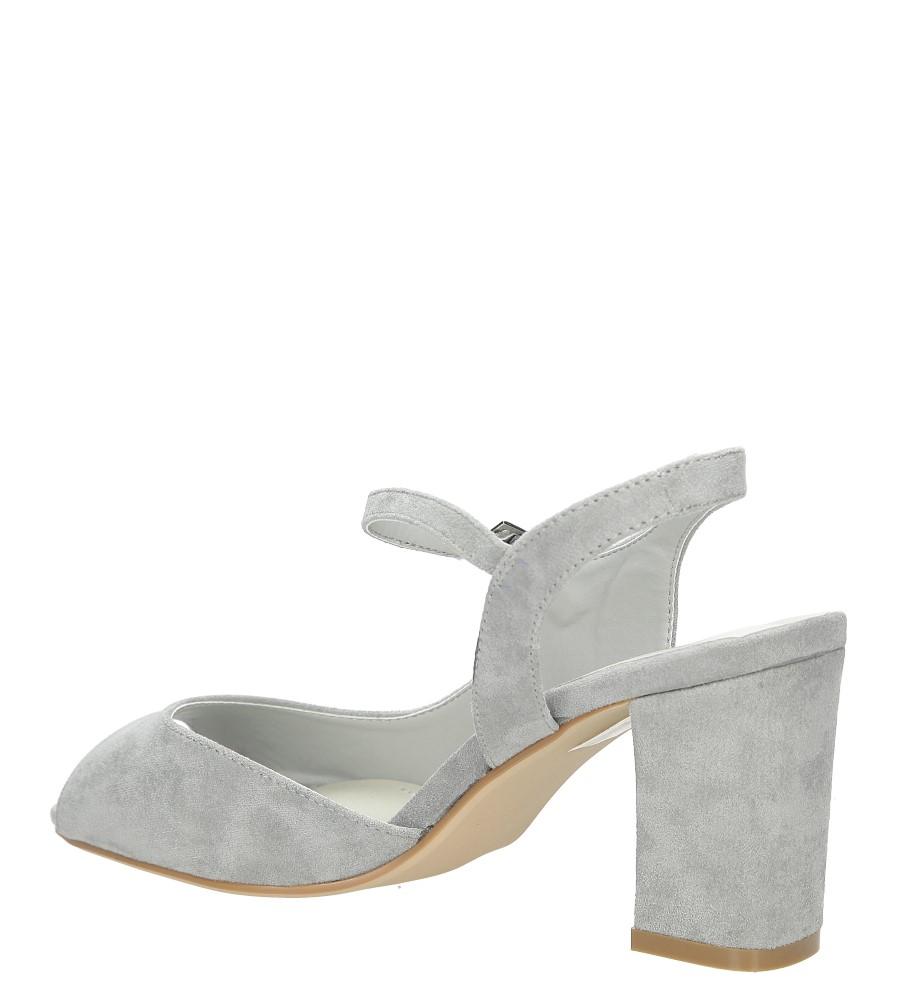 Szare sandały na szerokim obcasie Sergio Leone SK808-03M wysokosc_obcasa 7.5 cm